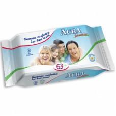 Салфетки влажные освежающие Aura для всей семьи №63