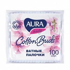 Aura палочки ватные n100/пакет