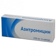Азитромицин 250мг №6 капс