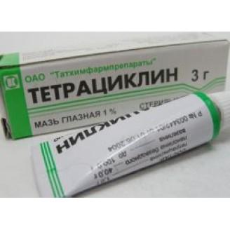 Тетрациклиновая глазная 1%-3г мазь
