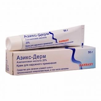 Азикс-дерм крем д/нар. прим. 20% туба 30г