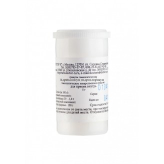 Адреналинум гидрохлорикум С6 гранулы 5г